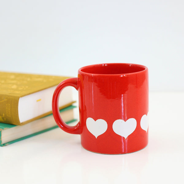 SOLD - Vintage Waechtersbach Germany Red & White Heart Mug