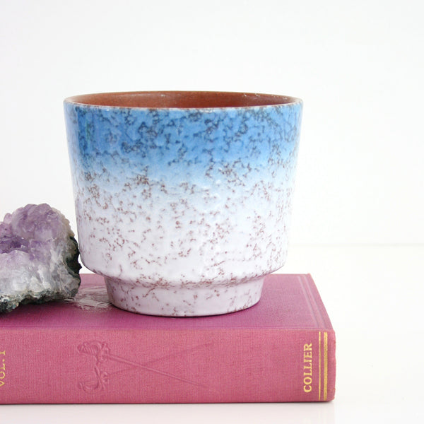 Mid Century Blue Ombre West German Pottery Planter