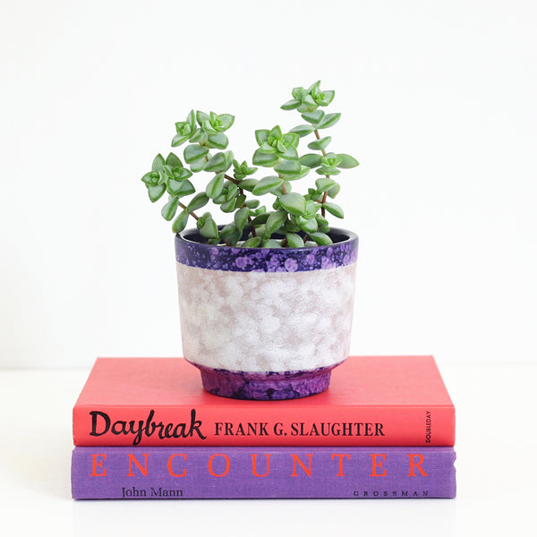 SOLD - Mid Century West German Purple Pottery Planter