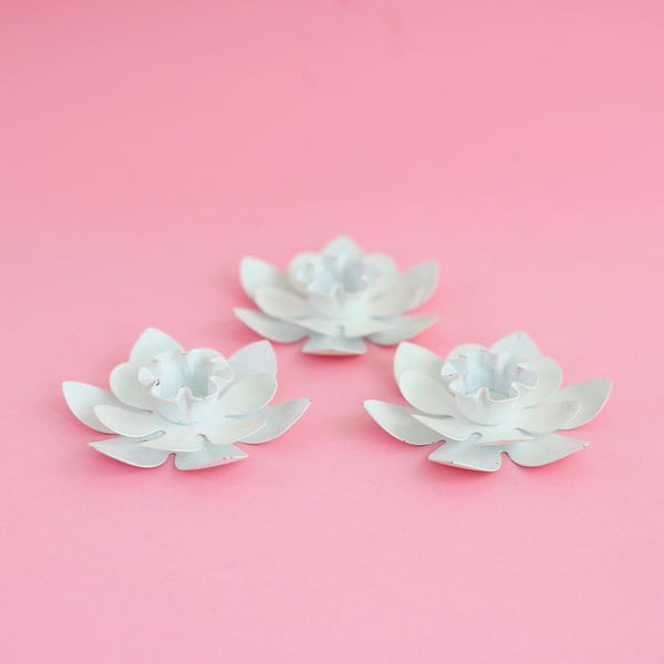Vintage Flower Candle Holders from West Germany