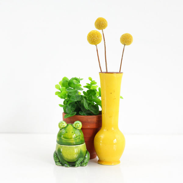 SOLD - Vintage Yellow Ceramic Vase