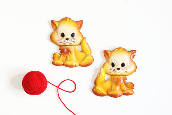 SOLD - Vintage Miller Studio Chalkware Kittens Wall Decor
