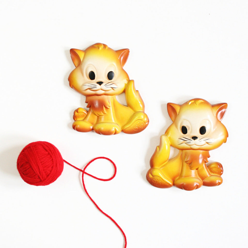 SOLD - Vintage Miller Studio Chalkware Kittens Wall Decor – Wise ...
