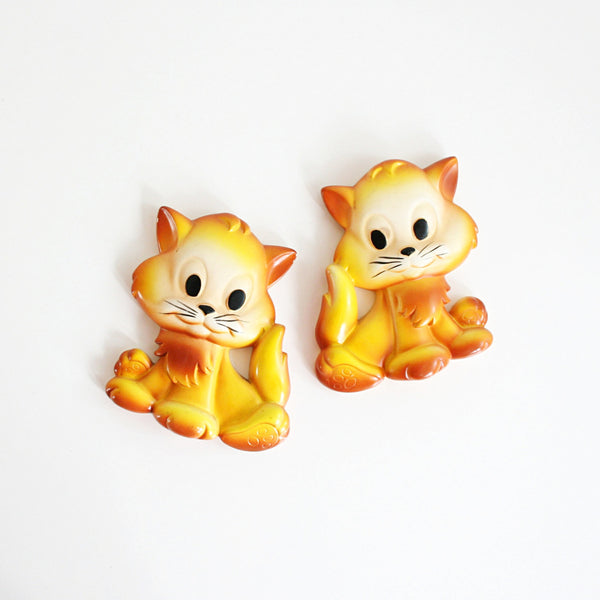 Vintage Miller Studio Chalkware Kittens Wall Decor