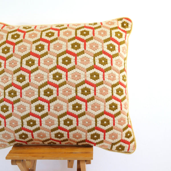 SOLD - Vintage Bargello Needlepoint Pillow