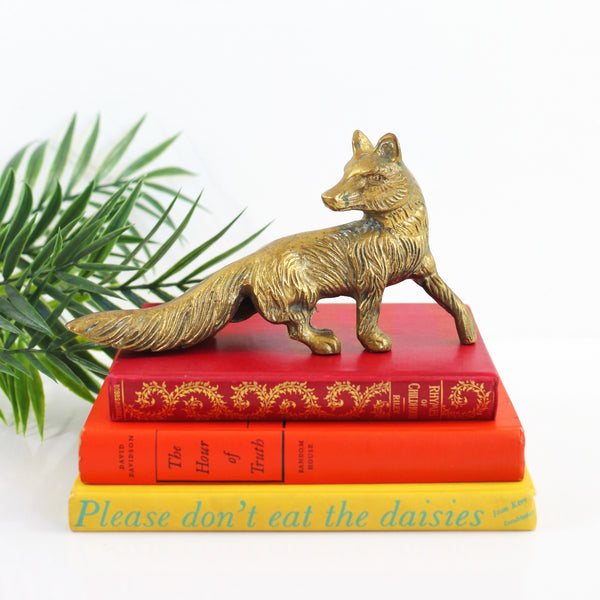 SOLD - Vintage Brass Fox Figurine