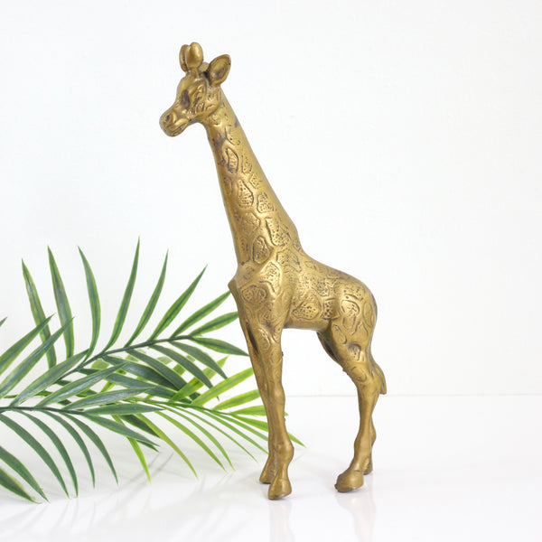 SOLD - Vintage Brass Giraffe