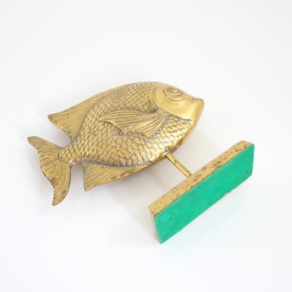 Vintage Brass Tropical Fish on Stand