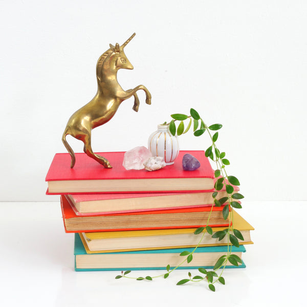 SOLD - Vintage Brass Unicorn Figurine