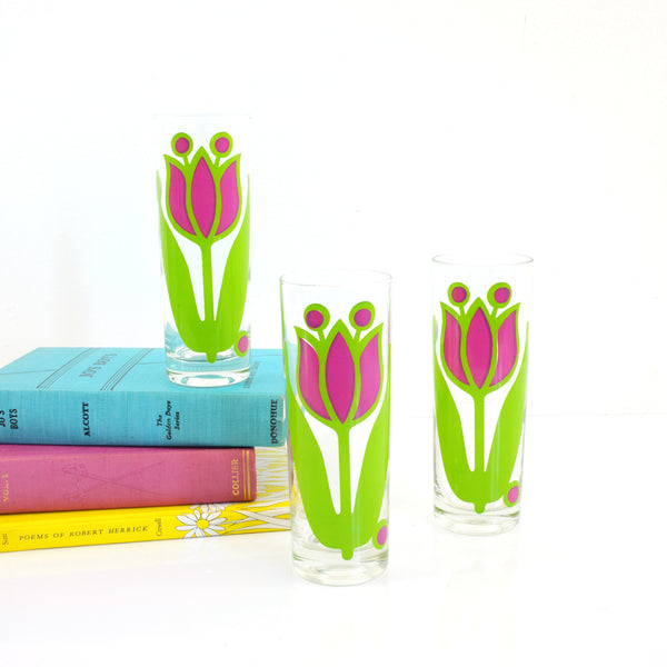Vintage Tulip Tom Collins Glasses by Colony Glass