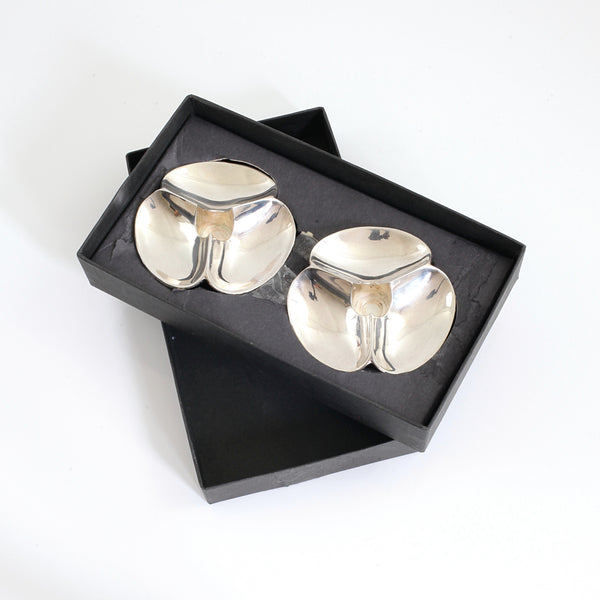 Vintage Dansk Silverplate Shell Candle Holders by Paul Schulze