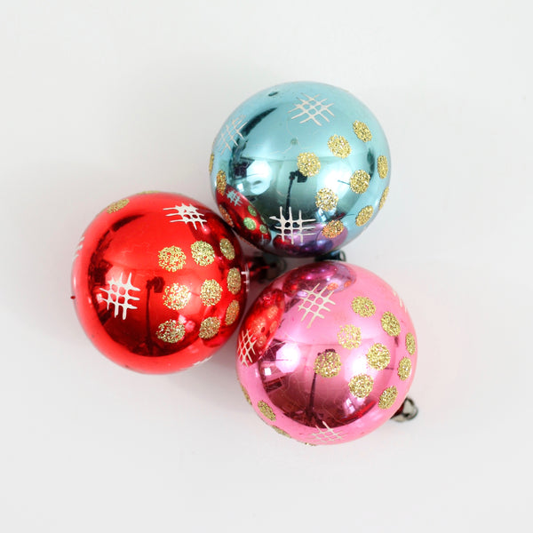 SOLD - Mid Century Modern Christmas Ornaments from Poland