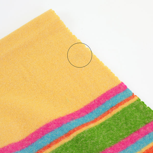 SOLD - Vintage Georg Jensen Damask Colorful Striped Lambswool Throw