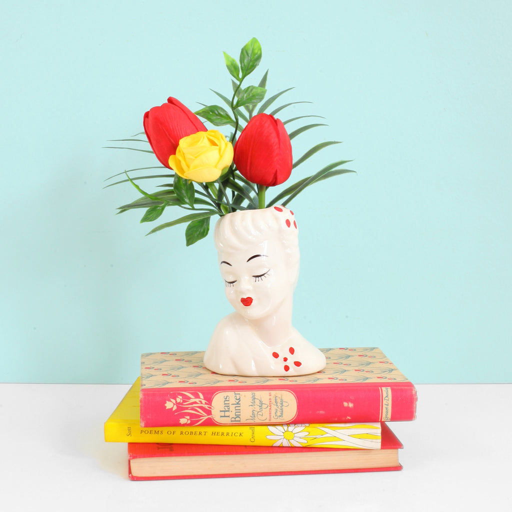 SOLD - Vintage 1950s Glamour Girl Head Vase