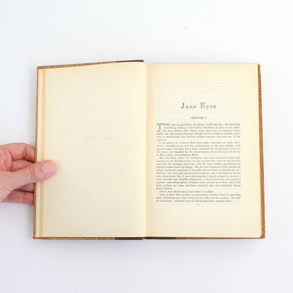 Vintage Jane Eyre by Charlotte Bronte / World's Popular Classics Art-Type Edition