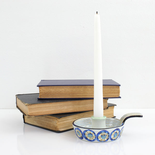 SOLD - Danish Modern Royal Copenhagen Fajance Ceramic Candle Holder 589/3362