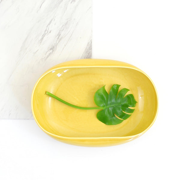 Vintage Russel Wright Chartreuse American Modern Serving Bowl by Steubenville