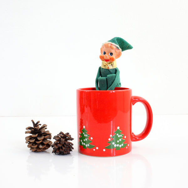 Vintage Waechtersbach West Germany Christmas Tree Mug (Small Trees)