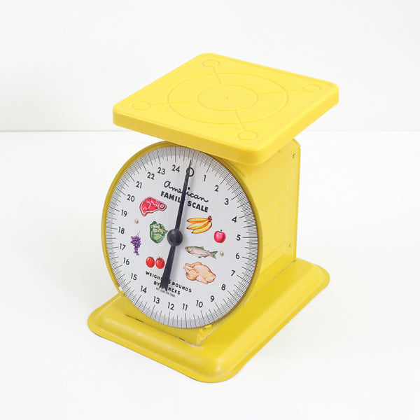 SOLD - Vintage Yellow American Family Kitchen Scale