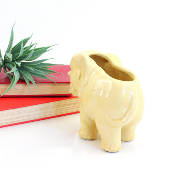 Vintage McCoy Yellow Elephant Planter
