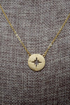 Gold Plated Compass Necklace