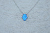 Sterling Silver Blue Hamsa Necklace