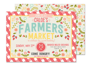 Farmers Market Birthday Invitation