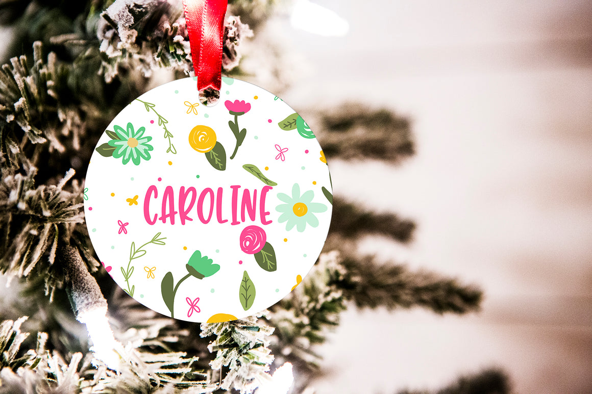 Fun Floral Christmas Ornament