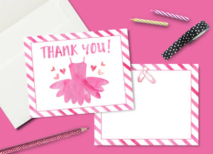 Ballet Dance Party Thank You Card (instant download)