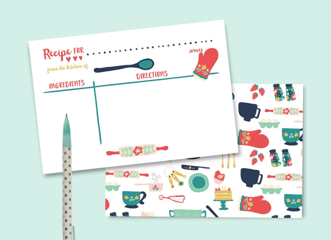 Stock the Kitchen Bridal Shower Recipe Card (instant download)