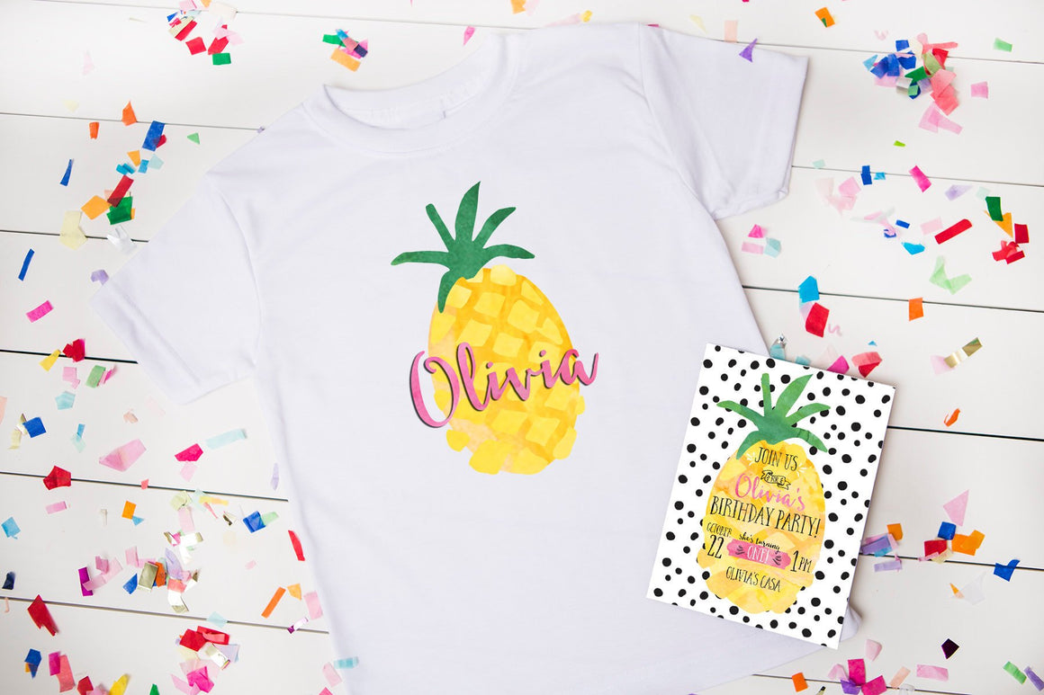 Pineapple Birthday Party Personalized Shirt