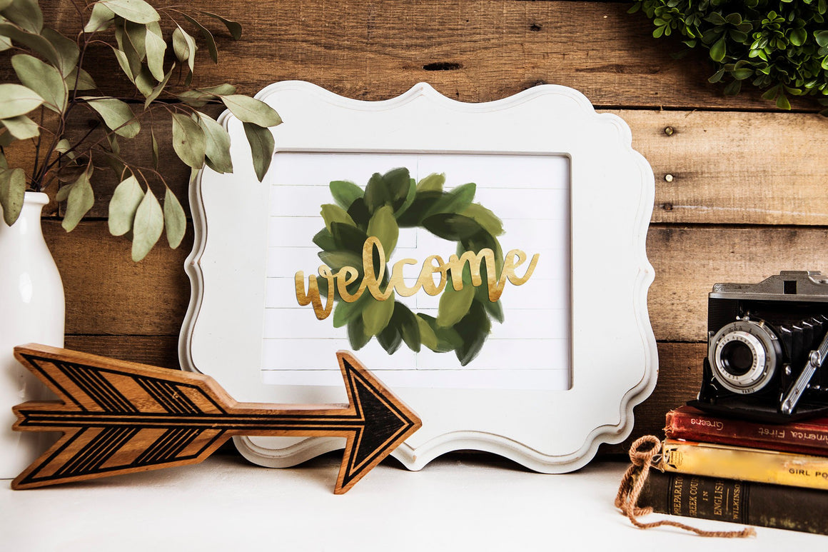 Rustic Shiplap Baby Shower Welcome Sign (instant download)