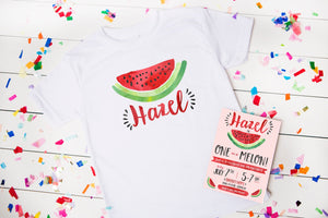 Watermelon Birthday Party Personalized Shirt