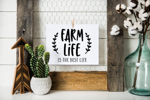 Farm Life is the Best Life printable wall art (instant download)