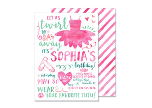 Dance Ballet Birthday Invitation