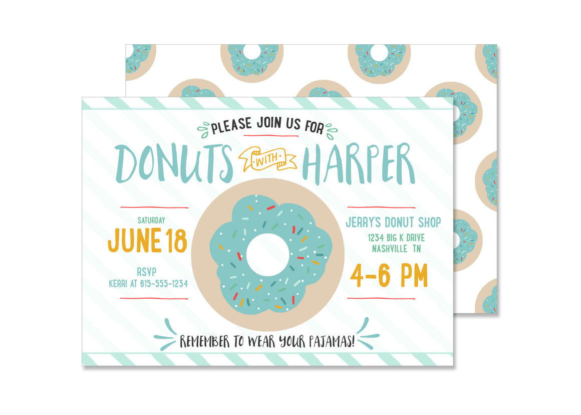 Donut Boy Birthday Invitation
