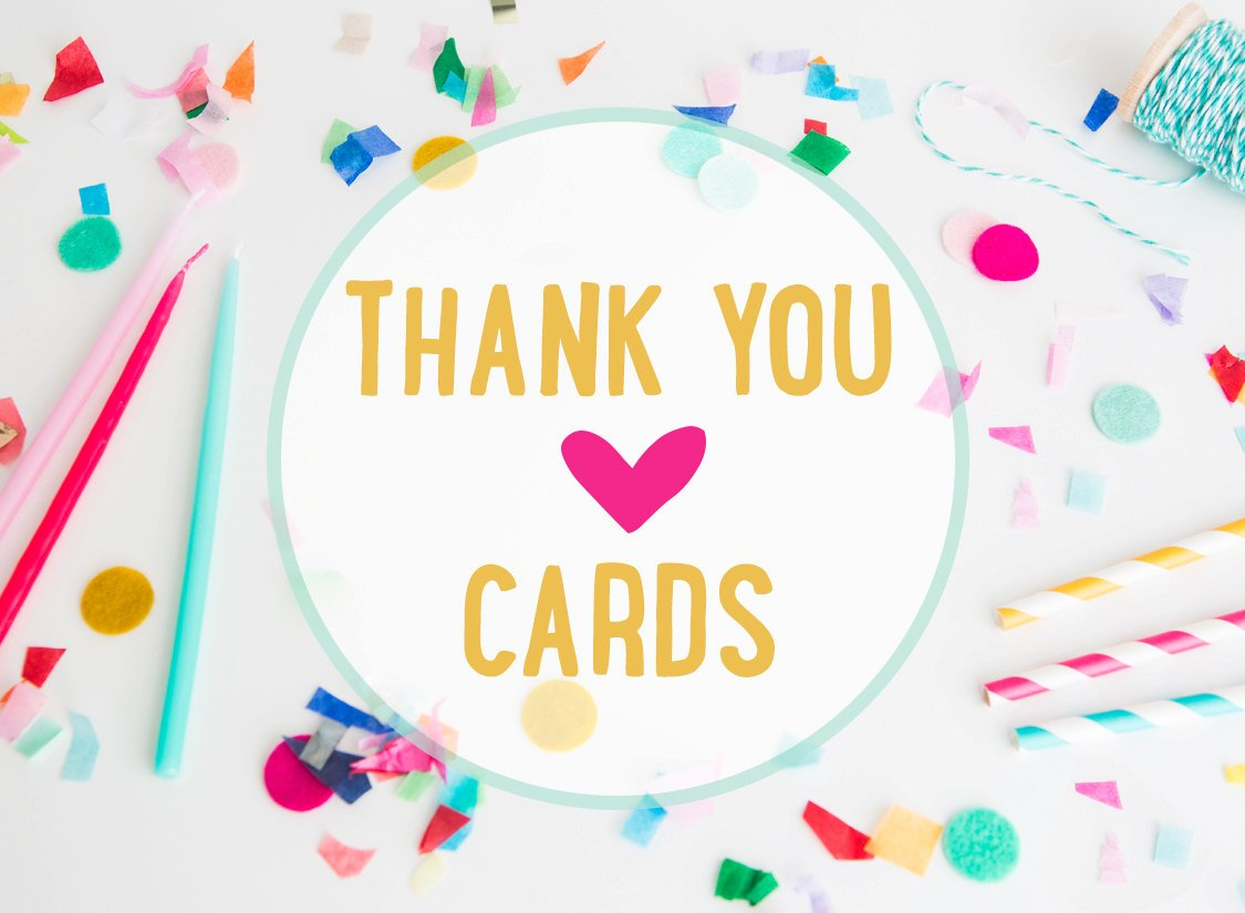 Custom Thank you cards - coordinates with any invitation in the shop