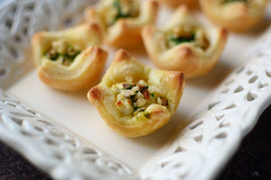 Herbed Goat Cheese Puff Pastry Cups