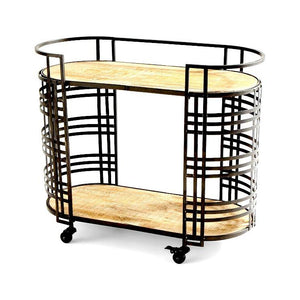 Banded About Bar Cart
