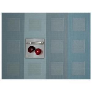 CHILEWICH Engineered Squares Placemat | Azure - GDH | The decorators department Store