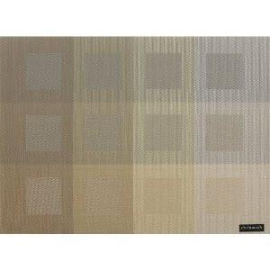 CHILEWICH Engineered Squares Placemats | Gold - GDH | The decorators department Store