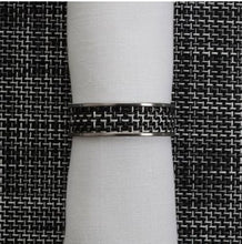Chilewich | Napkin Rings S/4 | BLK/WH - GDH | The decorators department Store