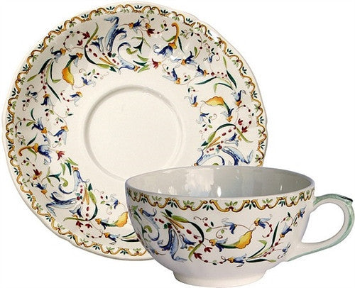 Gien Toscana Breakfast Cup and Saucer-Set of 2 - GDH | The decorators department Store