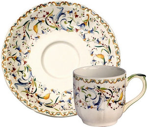 Gien Toscana Espresso Cup and Saucer-Set of 2 - GDH | The decorators department Store