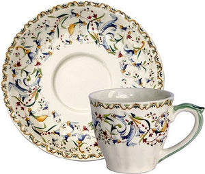 Gien Toscana Coffee Cup and Saucer-Set of 2 - GDH | The decorators department Store