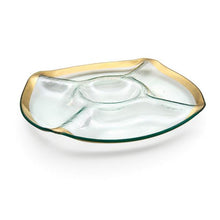 Annieglass Roman Antique Five Section Chip and Dip - GDH | The decorators department Store