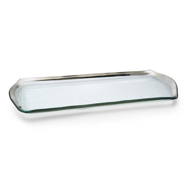 Annieglass Roman Antique Oblong Pastry Tray - GDH | The decorators department Store