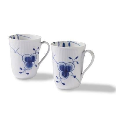 Blue Fluted Mega Mug (Set of Two) - GDH | The decorators department Store