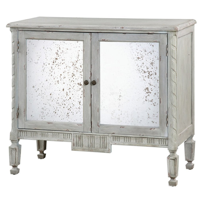 Okorie Warm Gray Console Cabinet