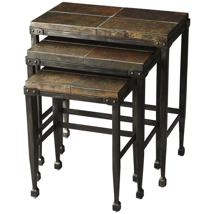 Slate & Metal Burnham Nesting Tables